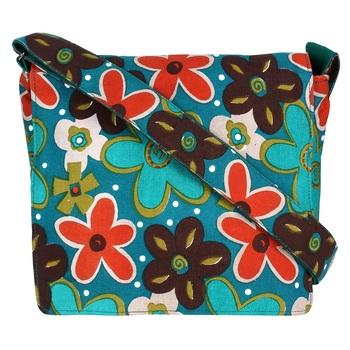 Florid Green Canvas Sling Bag