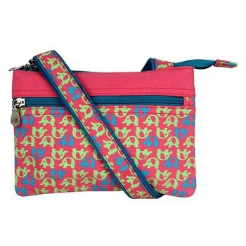 Minikins Pink Canvas Sling Bag