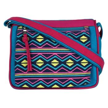Geomet Blue Canvas Sling Bag