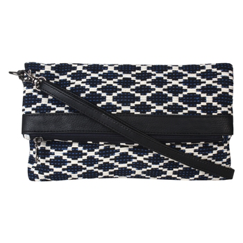 Nava Blue Jacquard Sling Bag