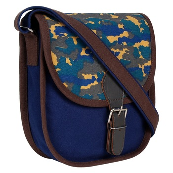 Redherring Blue Canvas Sling Bag