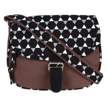 Geomet Brown Canvas Sling Bag