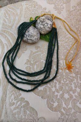 Green emerald   necklaces
