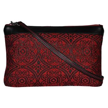 Typic Red Jacquard Sling Bag