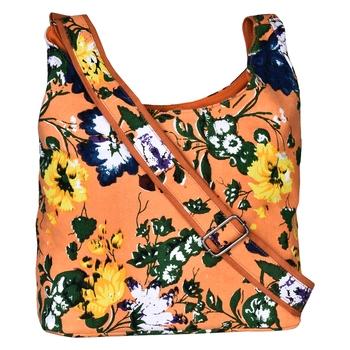 Flora Orange Canvas Sling Bag
