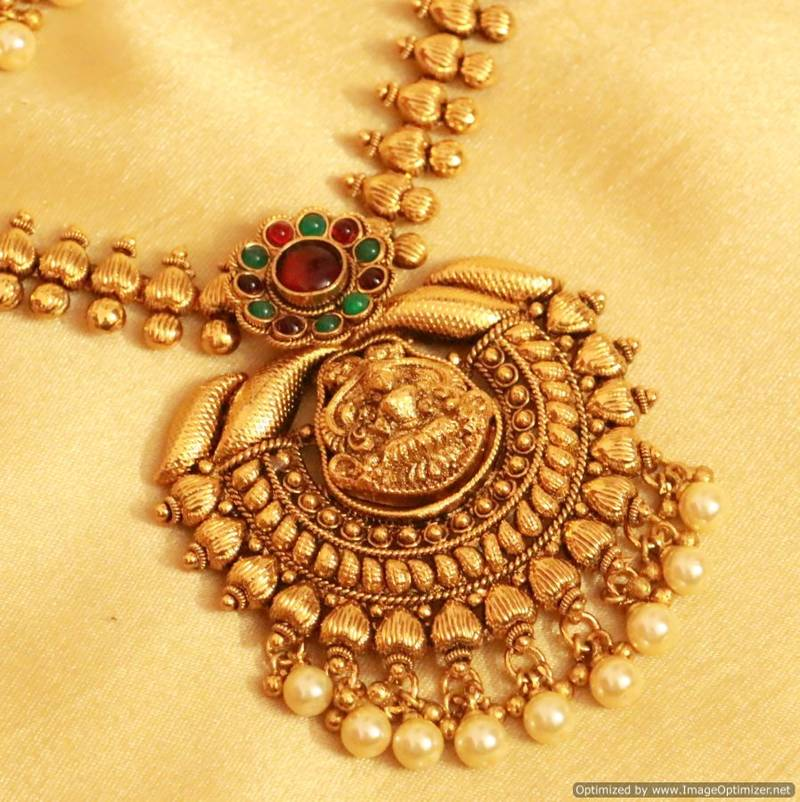 Buy classy kempu stone temple jewellery necklace set online classy kempu stone temple jewellery necklace set aloadofball Gallery