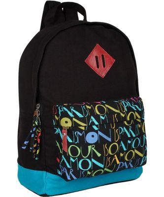 Paris Black Canvas Backpack