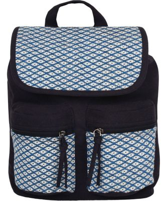 Monochrome Blue Canvas Backpack