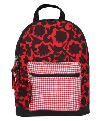 Flora Red Canvas Backpack