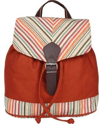 Streak Orange Canvas Backpack