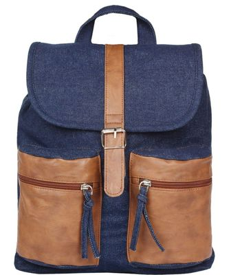 Classic Blue Canvas Backpack