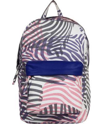 Zebra Purple Canvas Backpack