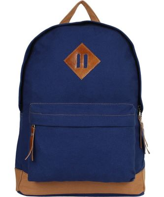 Basic Blue Canvas Backpack