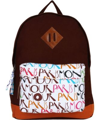 Paris Brown Canvas Backpack