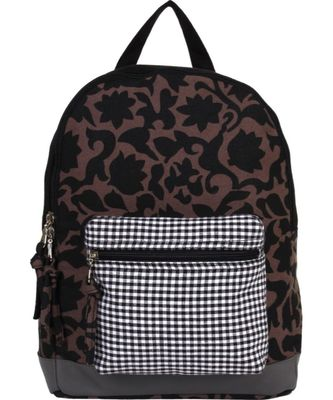 Flora Brown Canvas Backpack