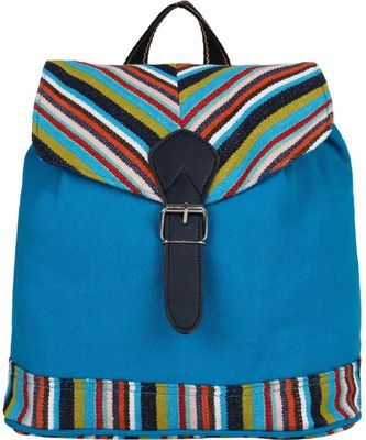 Streak Blue Canvas Backpack