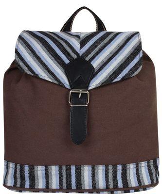 Streak Brown Canvas Backpack