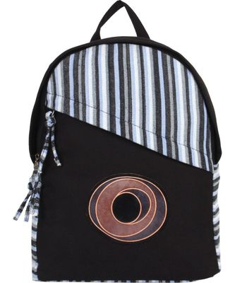 Streak Black Canvas Backpack