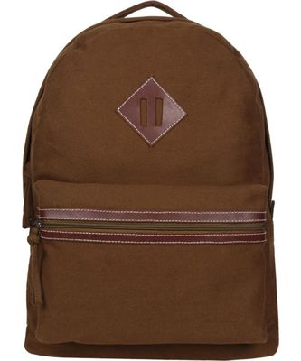 Classic Khaki Canvas Backpack