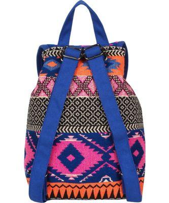 Nava Blue Canvas Backpack