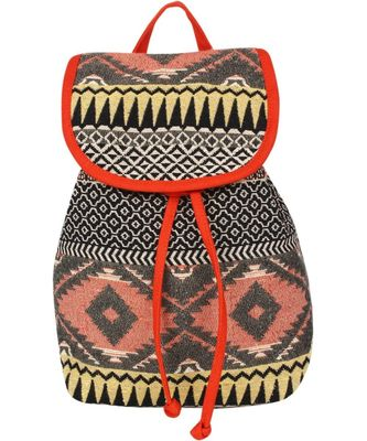 Nava Orange Canvas Backpack