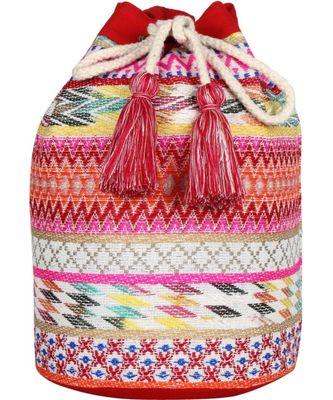 Nava Pink Jacquard Backpack