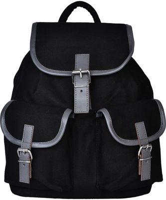 Monochrome Black Canvas Backpack