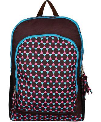 Geomet Brown Tetron Backpack