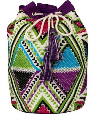 Nava Purple Jacquard Backpack