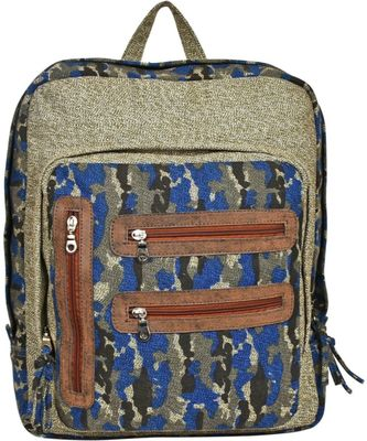Red Herring Khaki Canvas Backpack