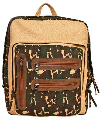 Red Herring Beige Canvas Backpack