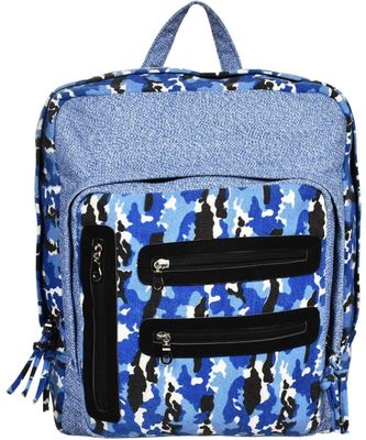 Red Herring Blue Canvas Backpack