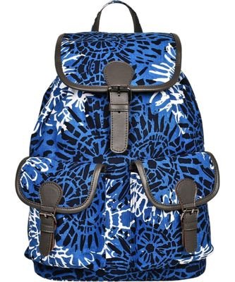 Florid Blue Canvas Backpack