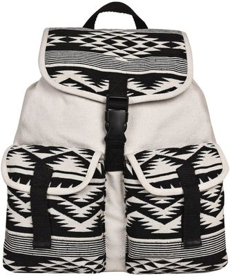 Monochrome White Canvas Backpack