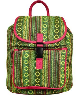 Nava Green Jacquard Backpack