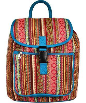 Nava Multicolor Jacquard Backpack
