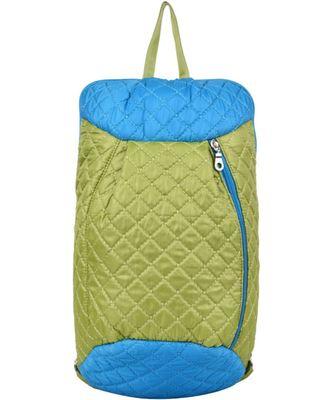 Duvet Green/Blue Polyester Backpack