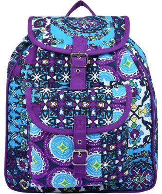 Florid Purple Multicolor Canvas Backpack