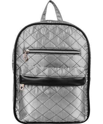 Duvet Silver Satin Backpack