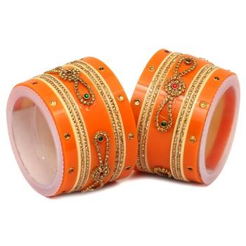 Orange bangles-and-bracelets