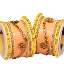 Beige Bangles And Bracelets