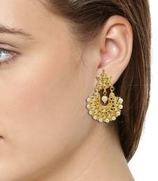 Omkar Jewel Kundan Danglers Earring Parity wear Earring