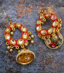 Multicolor Kundan Earrings for Beautiful Womans