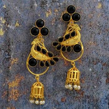 Peocock Jhumki Earring