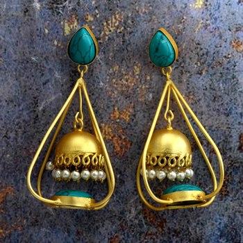 Fancy Gold Plated Jhumki