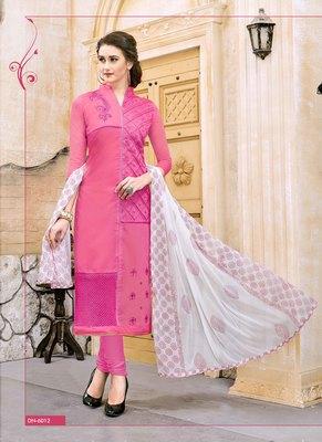 Pink resham embroidery cotton salwar