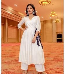 white plain cotton kurta sets