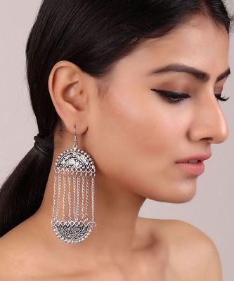 Long Chain Mughal-inspired Earrings