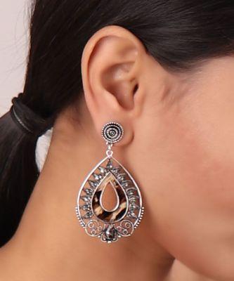 Drop-shaped Statement Earrings