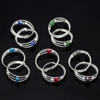 Multicolor toe-rings